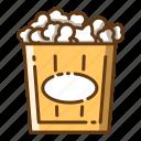 beverage, corn, food, popcorn, snack icon