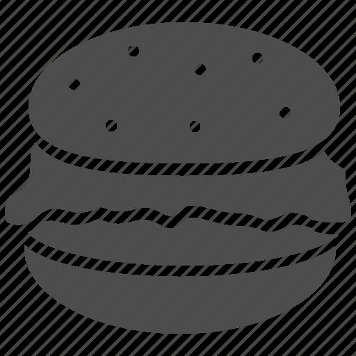 diet, fatty, hamburger icon