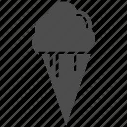 chocolate, cream, ice icon