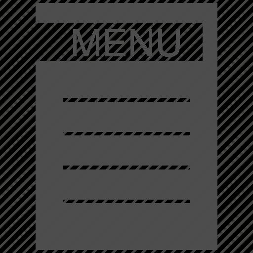 eat, menu, price icon