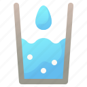 drink, drop, food, glass, water icon