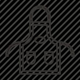 apron, bib, chef, cooking, kitchen icon
