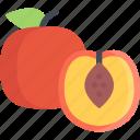 food, fruit, healthy, peach
