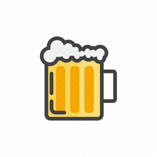 alcohol, beer, cold, summer icon