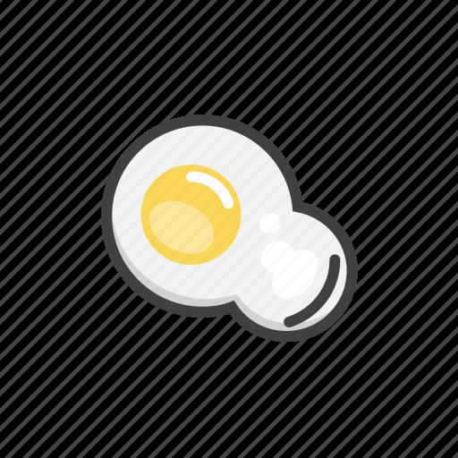 brekfast, egg, fried, health icon