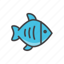 fish, fresh, health, sea icon