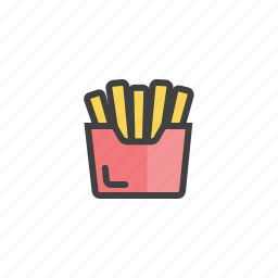 french, fries, package, potato icon