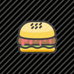 fast, food, hamburger, meat, paty icon