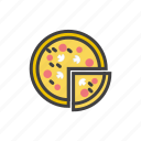 cheese, fast, italian, pepperoni, pizza, slice icon