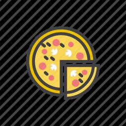 cheese, fast, italian, pepperoni, pizza, slice icon