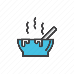 chicken, homemade, hot, soup, spoon icon