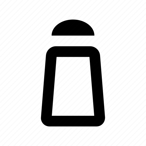 kitchen accessories, pepper pot, pepper shaker, salt pot, salt shaker icon