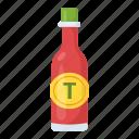 ketchup bottles, spaghetti sauce, tomato ketchup, tomato paste, tomato sauce icon