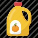 fruit juice, juice container, orange juice, orange juice bottle, orange juice brand icon