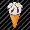 dessert, ice cone, ice cream, ice cream cone, sweet icon