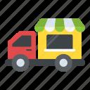 bakery van, food delivery van, food truck, food vendor truck, street food van icon