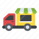 bakery van, food delivery van, food truck, food vendor truck, street food van