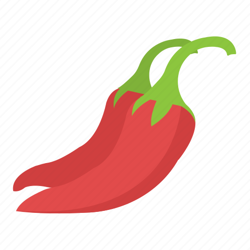 chili pepper, hot chilies, red chilies, spice, vegetable icon