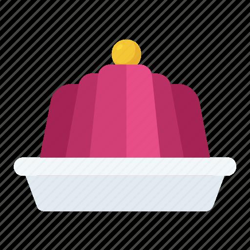 dessert, gelatin, jelly, jelly plate, pudding icon