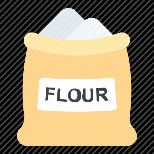 bread flour, flour, flour bag, flour sack, food icon