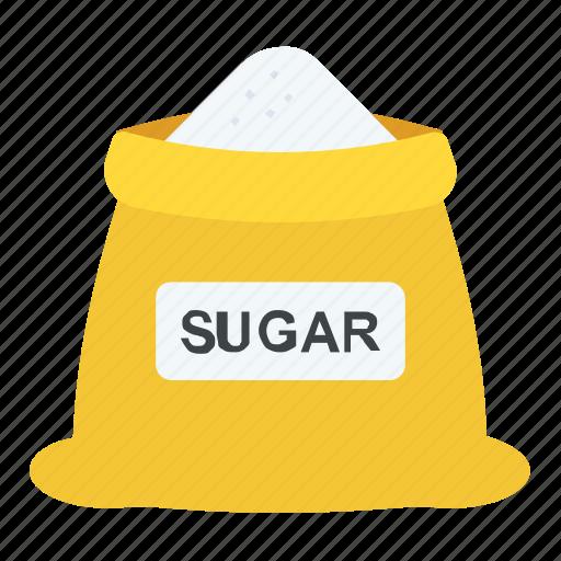 bakery, bakeshop, sugar, sugar bag, sugar sack icon