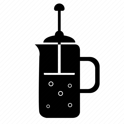 coffee, fresh, kettle, press, tea icon