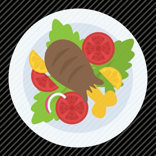 chicken drumstick, chicken leg piece, chicken piece, food, fried chicken icon