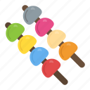 barbecue, bbq, brochette, grilled food, skewer icon