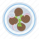 barbecue dish, bbq, grilled food, grilled meat, grilled steaks icon