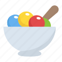 dessert, frozen food, ice cream cup, ice cream scoops, sweet icon