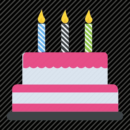 Birthday Cake Cake Cake With Candles Cream Cake Dessert Icon