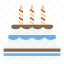 birthday cake, cake, cake with candles, cream cake, dessert icon