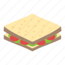 bread, refreshment, sandwich, snacks, toast icon