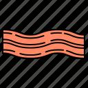bacon, breakfast, food, meat