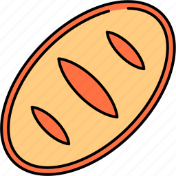 bread, breakfast, food, loaf, wheat icon