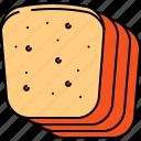 bread, breakfast, food, slices, wheat