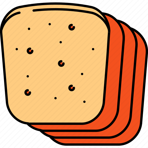 bread, breakfast, food, slices, wheat icon