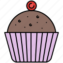 chocolate, cupcake, food, snack, sweet icon