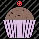 chocolate, cupcake, food, snack, sweet