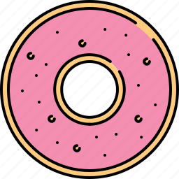 breakfast, doughnut, food, glazed, snack, wheat icon