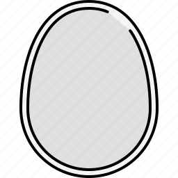 boiled, breakfast, egg, food, protein icon