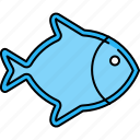 fish, food, healthy, protein, sea icon