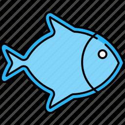 fish, food, healthy, protein, sea icon