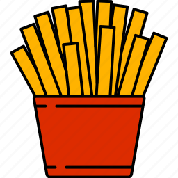 fast, food, fried, fries, junk icon