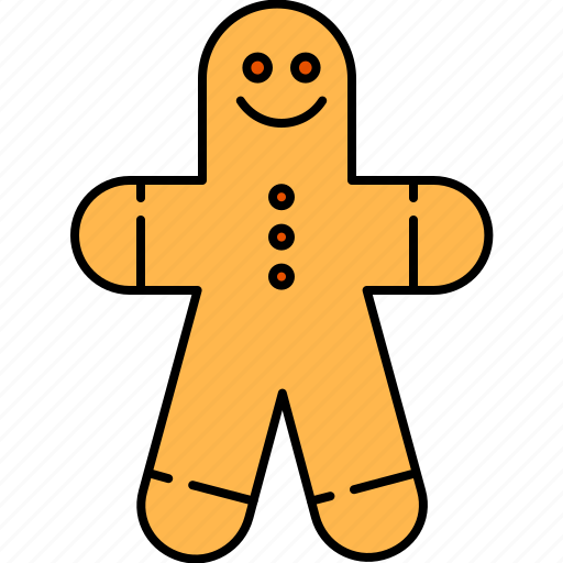 cookie, food, gingerbread, man, wheat icon