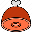 dinner, food, ham, lunch icon