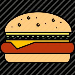cheeseburger, fast, food, hamburger, junk icon