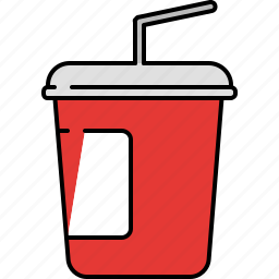 carrier, drink, hot, soda, straw icon