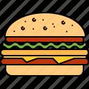 beef, fast, food, hamburger, junk, large