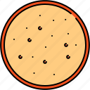 bread, breakfast, round, slice, wheat icon